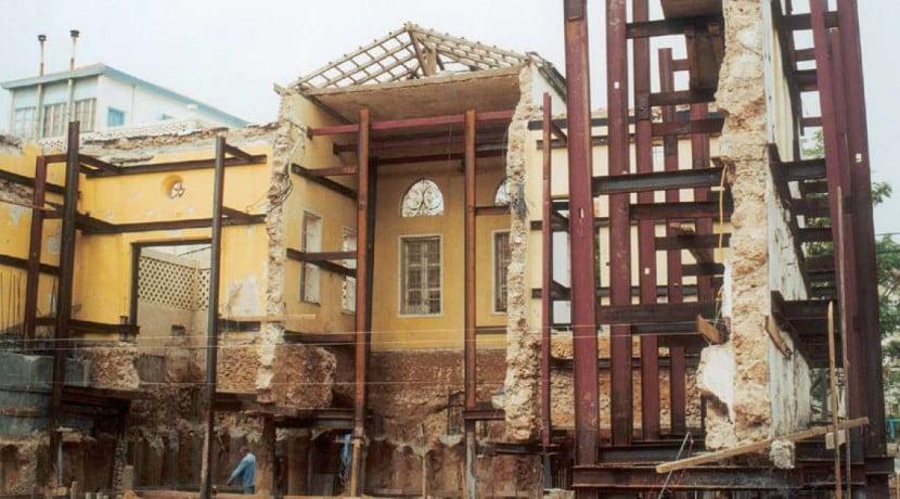 בניין למגורים, שימור חזיתות המבנה